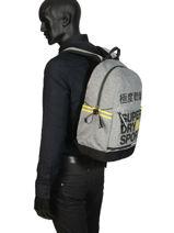 Backpack 1 Compartment Superdry Gray backpack men MS4100JU-vue-porte