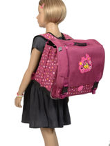 Schoolbag 2 Compartments Eggmania by ddp Violet egg-xquise DDP42308-vue-porte