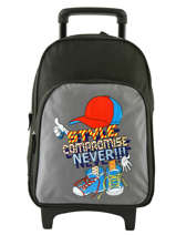 Wheeled Backpack Miniprix Gray school 15103