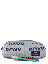 Trousse 2 Compartiments Roxy Gris back to school RJAA3612-vue-porte