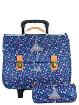 Wheeled Schoolbag With Free Pencil Case Poids plume Blue liberty LIB1939