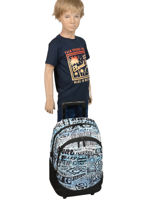 Wheeled Backpack Cover Up 2 Compartments Rip curl Blue cover up BBPNK4-vue-porte