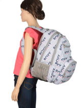 Backpack Shadow With Matching Pencil Case Roxy Gray back to school RJBP3953-vue-porte