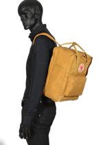 "Backpack Kånken 1 Compartment + Pc15"" Fjallraven Yellow kanken 27172-vue-porte"