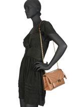 Quilted Leather Cece Shoulder Bag Michael kors Brown cece T9G0EL8L-vue-porte