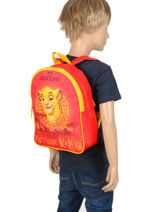 Backpack Mini Le roi lion Orange king ROINI03-vue-porte