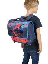 Satchel Spiderman Blue mask SPINI10F-vue-porte