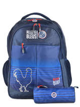 Backpack 2 Compartments With Free Pencil Case Allez les bleus world cup ALB12109