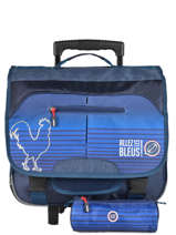 Wheeled Schoolbag With Free Pencil Case Allez les bleus Blue world cup ALB12409