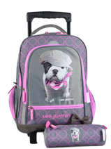 Wheeled Backpack With Free Pencil Case Teo jasmin Violet teo titi TEO22210