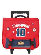 Wheeled Schoolbag 2 Compartments Pol fox Red garcon G-TRCA38