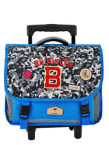 Wheeled Schoolbag 2 Compartments Pol fox Blue garcon G-TRCA38