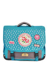Cartable 2 Compartiments Pol fox Bleu fille F-CA38