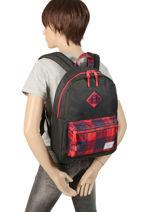 Backpack 1 Compartment Herschel Black youth 10312-vue-porte
