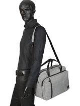 Briefcase And Backpack Herschel Gray classic business 10665-vue-porte