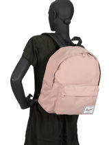 Backpack 1 Compartment Herschel Pink classics 10753-vue-porte