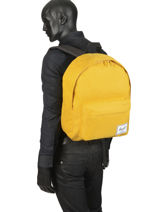 Backpack 1 Compartment Herschel Yellow classics 10753-vue-porte