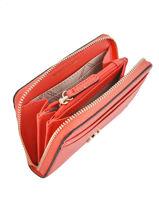 Purse Leather Michael kors Orange money pieces F8TF6Z0L-vue-porte