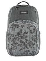 Sac à Dos 2 Compartiments + Pc 15'' Dakine Gris campus 10002634