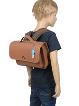 Satchel 1 Compartment Own stuff Brown satchel OS013-vue-porte