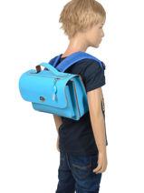 Satchel 1 Compartment Own stuff Blue satchel OS013-vue-porte