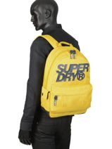 Sac A Dos 1 Compartiment Superdry Noir backpack men M9100015-vue-porte