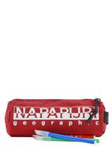 Trousse 1 Compartiment Napapijri Rouge geographic NOYIOI-vue-porte