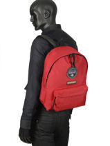 Backpack 1 Compartment Napapijri Red geographic NOYGOS-vue-porte