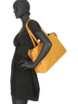Sac Shopping Format A4 Gallantry Jaune format a4 1-vue-porte