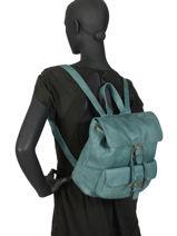 Backpack Basilic pepper Blue cow BCOW06-vue-porte