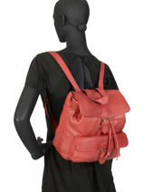 Backpack Basilic pepper Red cow BCOW06-vue-porte