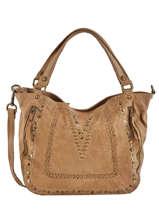 Shoulder Bag Studs Leather Basilic pepper Brown studs BSTU12