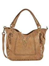 Sac Shopping Studs Cuir Basilic pepper Marron studs BSTU12