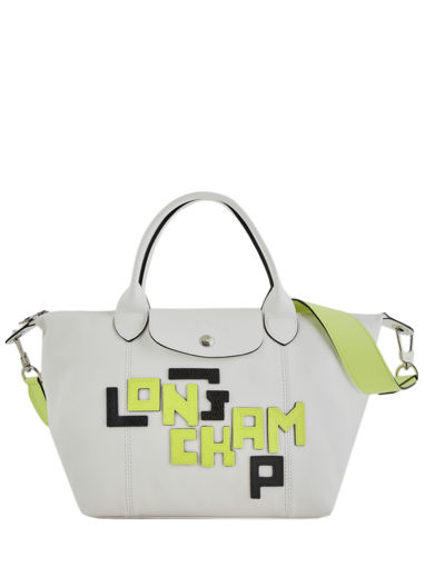 Longchamp Le pliage cuir lgp Handbag White