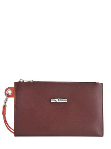 Longchamp Roseau Clutch / cosmetic case Red
