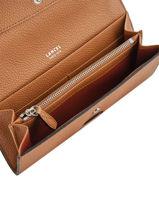 Slim Leather Wallet Ninon Lancel Brown ninon A09986-vue-porte