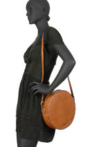 Large Shoulder Bag Darwin Leather Etrier Brown darwin EDAR07-vue-porte