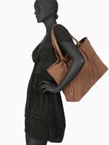 Shoulder Bag A4 Obstacle Etrier Brown obstacle EOBS06-vue-porte