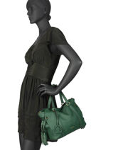 Leather Tradition Satchel Etrier Green tradition EHER24-vue-porte