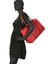 Sac Shopping Authentic Synderme Torrow Rouge authentic TAUT01-vue-porte