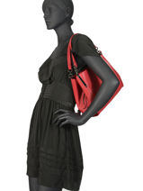Leather Dalton 28 Shoulder Bag Coach Red dalton 73546-vue-porte
