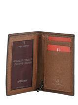 Wallet Leather Hexagona Brown icone 207775-vue-porte