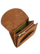 Wallet Leather Nat et nin Brown vintage KAYA-vue-porte