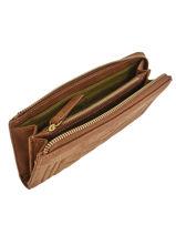 Wallet Leather Vintage Nat et nin Brown vintage LENA-vue-porte