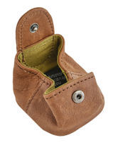 Purse Leather Nat et nin Brown vintage SWEETIE-vue-porte