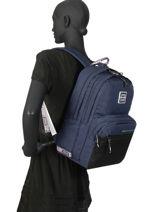 Sac à Dos 2 Compartiments Superdry Bleu backpack woomen W9100005-vue-porte