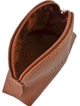 Longchamp Le foulonné Porte-monnaie Marron-vue-porte