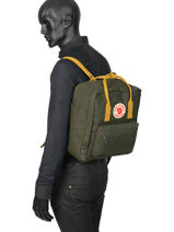 Backpack Kånken 1 Compartment Fjallraven Black kanken 23510-vue-porte