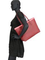 Shoulder Bag A4 Anna Fantaisie Lacoste Red anna fantaisie NF2994AS-vue-porte
