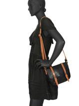 Messenger Bag Brown Miniprix Black brown H6705-vue-porte